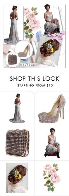 """""""@ShefaliCouture 's new collection is now on AtMayfair! Pair this gown by them with a @RucheHues clutch and @janiko_official #shoes #Janiko #ShopAtMayfair!"""" by atmayfair ❤ liked on Polyvore featuring Sephora Collection, Karlsson, shoes, ShopAtMayfair and Janiko"""