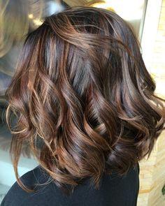 Dark-Hair-Color Hair Color Ideas for Short Haircuts Hair Color Highlights, Hair Color Dark, Ombre Hair Color, Hair Color Balayage, Dark Hair, Balayage Highlights, Hair Colors, Balayage Bob, Brunette Highlights