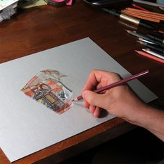 Realistic Color Drawings of Everyday Objects by Marcello Barenghi