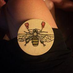 #mixedmedia #pen #ink #painting #nature #art #honey #bee #mini #artist #miniart #nola #painting #paintingoftheday #sharpie #natureart #boxer #fightforlife #punch #watercolor by art.savage