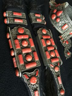 Full set of Dariganga women's headdress. Silver, coral, seed pearls, horse/false hair. 19th c, Mongolia. Private Collection.