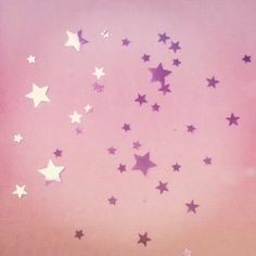 Pink Sparkling Stars