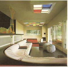 "Architect Ico Parsi, from ""Decorative Art and Modern Interiors"", Studio Vista 1974. Living room"