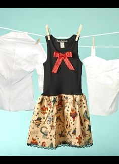 Tattoo Print Baby Dress from Paper Doll