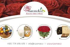 Nový eshop na rozvoz růží www.ruzomat.cz Fleur Design, Container, Food, Essen, Meals, Yemek, Eten