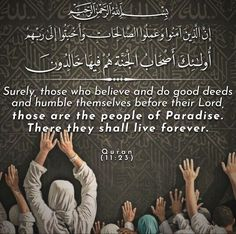 Quran Verses, Quran Quotes, Islamic Quotes, Quran In English, Good Deeds, Paradis, Les Oeuvres, Allah, Believe