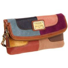 Fossil Emory Patchwork SL2961 Clutch,Patchwork,One Size