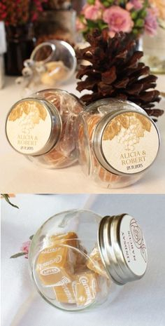 Wine Themed Mini Candy Jars (Set of 12 - 5 Colors) from Wedding Favors Unlimited