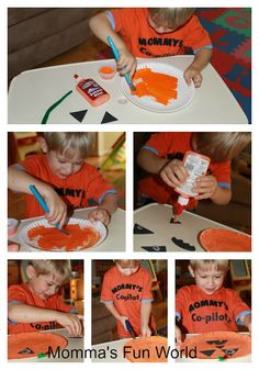 Momma's Fun World: Paper plate pumpkin