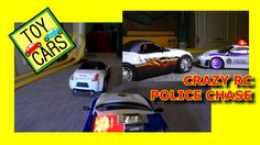CRAZY RC POLICE CHASE! Toy Cars Smash and Crash! ACTION FUN!