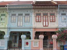 Peranakan shophouses in Singapore