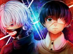 Kaneki Ken Tokyo Ghoul by ShintaRee on DeviantArt | Two sides of one coin, and what stunning colors, its really nice!