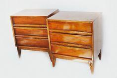 Pair of Vintage Mid Century Nightstands by retrospectiveaustin, $400.00