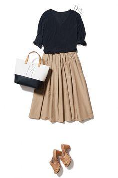 ハリ感スカートでつくる好感度UPな上品コーデ ― A-ファッションコーディネート通販|ビストロ フラワーズ トウキョウ