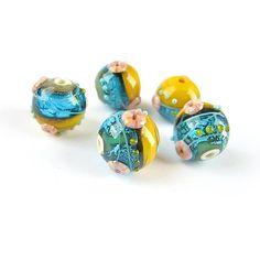 Lampwork  Beads Glass Lampwork Beads Set by FolgaOlgaBeads on Etsy
