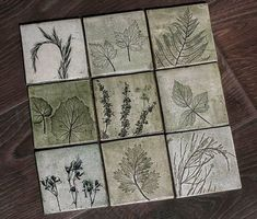 I Cast Plants, Flowers & Objects In Plaster To Create Sculptural Images Slab Pottery, Ceramic Pottery, Clay Projects, Clay Crafts, Printed Magnets, Plaster Art, Concrete Crafts, Ceramic Wall Art, Clay Tiles