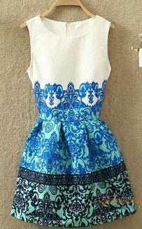 New Women Casual Floral Print European Style Vest Vintage Gril Slim Dresses Female Clothing Vestidos Desigual Dress QA380