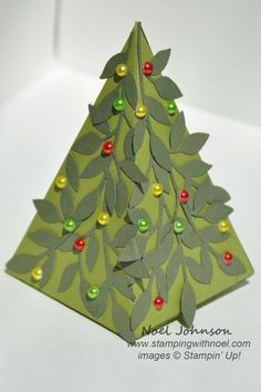 """petal cone die christmas tree treat holder This would make a great craft """"kit"""" for kids...Make cones and supply various decorative bits and pieces inside the cone."""