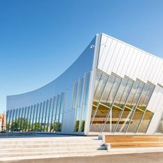 Glass and aluminium-clad public library in Toronto by ZAS