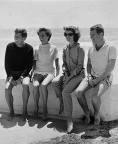 John F. Kennedy, Ethel Kennedy, Jacqueline Kennedy and Robert Kennedy pose together in Palm Beach, Fla., in this undated photo.