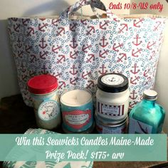 Enter to #Win a Maine-Made Prize Pack from Seawicks Candles!