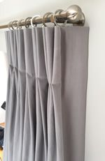 Lined Double Pleat (Pinch Pleat) Curtain, Calculate Curtain Dimensions