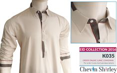 Chevin Shirley Eid Men Kurta Shalwar are trendy and stylish shalwar kameez for this festive occasion check out all the new designs launched by brand. Mens Kurta Designs, Latest Kurta Designs, Mens Shalwar Kameez, Kurta Men, Designer Suits For Men, Designer Clothes For Men, Men Clothes, Terno Casual, Pathani Kurta