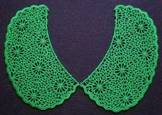 Embroidered Lace Collar Peter Pan Lace by ElsieMichelleDesigns, $21.50