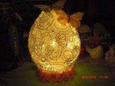 DIY - XXL Osterei aus Spitze - Lampen Ei zu Ostern aus Spitze - YouTube