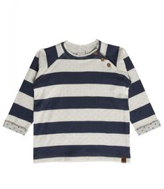 Sweatshirt HUST in blau/weiß gestreift