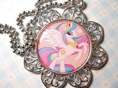 My Little Pony Princess Celestia necklace $20 on Etsy