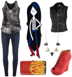 Outfit inspired by Marceline the Vampire Queen #adventuretime