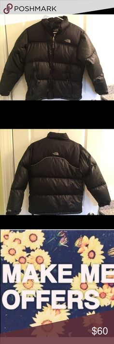 North Face Puffy Coat Boys Large Excellent condition. Does have our sons name on tag. Tiny. Smoke free home. Please feel free to ask any questions. Thank you for shopping my closet. 🌺🌺 offers always welcome🌺🌺 North Face Jackets & Coats Puffers