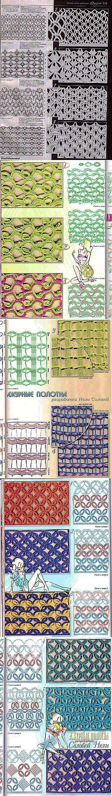 Сетка крючком – схемы вязания сеток.