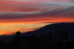 Sunset Over The North Shore Mountains 2014.07.13 - Vancouver City Centre | Canada