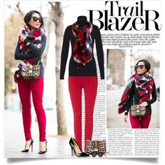 Wendy♥ http://www.wendyslookbook.com/2014/12/leo-plaid-blanket-scarf-valentino-leopard/