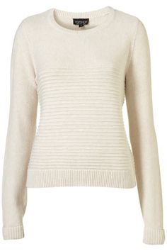 Top Shop Knitted Ripple Slouchy Jumper