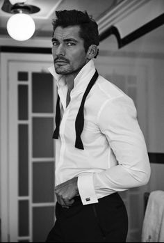 Considering David Gandy's birthday is February there should be an International David Gandy Day ;-) I mean of all the models and fitness models out there, I'd say David James Gandy is the one most women go absolutely ga-ga over. David Gandy Style, David James Gandy, Mode Masculine, Gq, Look Man, British Men, Perfect Man, Sensual, Gorgeous Men