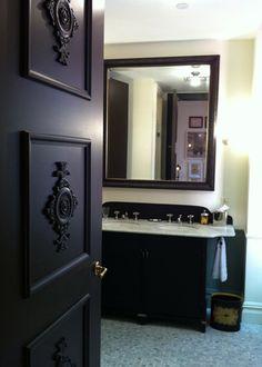 Black door with molding idea