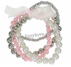 Soft pearls and pink ribbons unite in this 4 pc bracelet set. Perfect for aspiring flower girls, or glamorous gals, this set is a must-have. Little Girl Dress Up, Girls Dress Up, Wedding Bracelet, Bracelet Set, Kids Bracelets, Beaded Bracelets, Disney World Outfits, Kids Boutique, Kids Jewelry