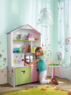 Estanterías con forma de casita : Dos modelos de estanterías infantiles, con forma de casita, aparecen entre las novedades de Vertbaudet en su sección Habitación Bebé. Perfectas para habit