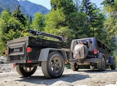 Jeannie out and about with her nice lightweight Dinoot matching M416 Jeep Trailer.