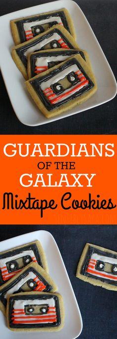 Guardians of the Galaxy Mixtape Cookies | SensiblySara.com