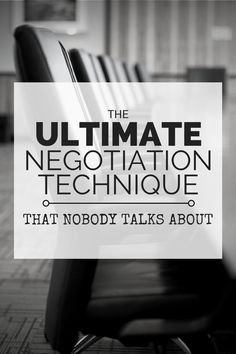 The Ultimate Negotiation Technique That Nobody Talks About http://www.usawaterviews.com/