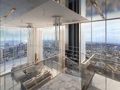 Brickell Flatiron unveils renderings of penthouse collection New York Penthouse, Luxury Penthouse, Luxury Condo, Luxury Apartments, Apartment View, Penthouse Apartment, Dream Apartment, Nyc Apartment Luxury, Condo Interior