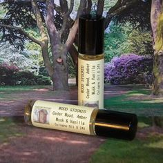 WOOD STOCKED Natural Cologne Oil Cedar Wood by CountryFolkSoap