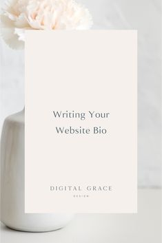 If you are struggling with how to write a bio for your website, I'll show you every element you need to make it pop on your About page and give you a few real-life examples to kickstart your brainstorming process. #BioTips #WebsiteTips