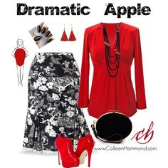 Dramatic Apple by colleen-hammond on Polyvore featuring Nina Ricci and Chanel