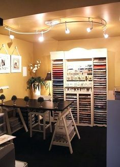 craft lighting is a must for an organized craft room! Craft room designs by robin minecraft cool lighting ideas