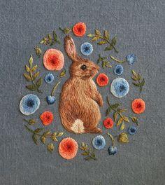 miniature animal embroideries by chloe giordano